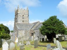 The Church of St Marwenne,   Marhamchurch, Cornwall.  This is the Parrish Church where John's great-great grandparents, John Hines and Eliza Harris, were married in 1865.