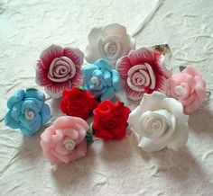Paper clay roses