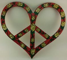 Peace Sign Wall Art by PeaceSignsHippieCat on Etsy