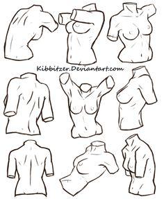 Female Torso Reference Sheet by Kibbitzer.deviantart.com on @DeviantArt