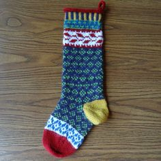 Love these Hand Knit Christmas Stockings via Etsy.
