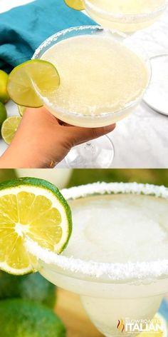 Lime Margarita Recipe, Classic Margarita Recipe, Margarita Drink, Best Margarita Recipe Frozen, Frozen Margaritas, Frozen Cocktails, How To Make Margaritas, Summer Drinks, Fun Drinks