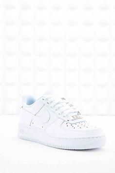 Nike - Baskets en cuir Air Force 1 blanches