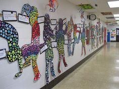 The Art Room at The Falcon Academy of Creative Arts: 6th grade art