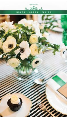 Emerald Green is a hot trend for 2013 in weddings and decor!  More Design Please - MoreDesignPlease - Color Inspiration: Black GreenWhite