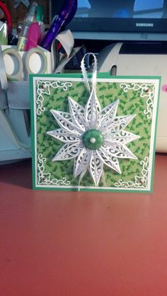 Christmas card with homemade ornament