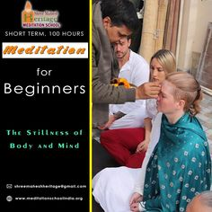 #100_hours_Meditation training #certification course for the beginner level of meditation practitioners. The program covers Yoga meditation postures, Hands gestures, breathing techniques for balancing energy and #chakra, Yoga #meditation philosophy, sacred Beej mantra chants, teaching #methodology skills.