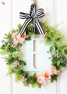 Botanical Spring Wreath #MichaelsMakers | Positively Splendid {Crafts, Sewing, Recipes and Home Decor}