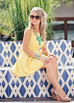 Sunny Days Box Pleat Dress