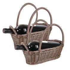 A basket of wine
