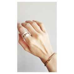 Linha Sertão: Anel P sem rebites (dois pratas e um dourado)  Bracelete sem rebites. [Compras via direct]