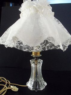 Shabby Chic Lamps Bedside or Buffet  2 by TheVintagePorch on Etsy, $24.00
