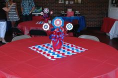 Ole Miss Party Decor #rebels #hottytoddy