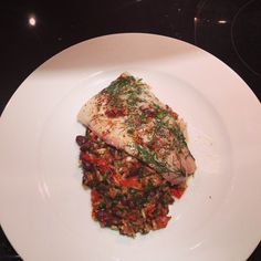 Sous vide black cod round 2 different core temp served with wild rice medley pilaf. Photo cred: @erikandrewj