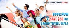 Group Travel Discounts - http://goo.gl/QgztZU Flat $50 Off Use Coupon Code - GGT50 Call:- 1-888-206-2080 to book Now.!
