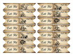 Eat me cupcake flag. Alice in Wonderland cupcake door KatarinaArt