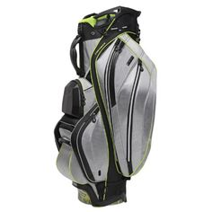 Ogio Men's Chamber Cart Bag With Silencer Technology, Chrome/Acid, 37-Inch. Details at http://youzones.com/ogio-mens-chamber-cart-bag-with-silencer-technology-chromeacid-37-inch/