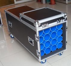 Smile Tech Flight case for 16 pcs mic support with caster (Contact Skype: rackcase020)