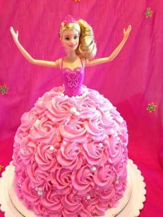 Image result for ballerina barbie birthday cake