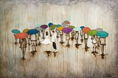 Rainy Day Art titled Dance With Me In The Rain by KendraStudiosInc