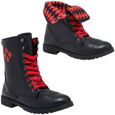 Harley Quinn Combat Boots