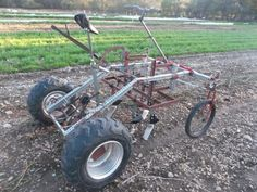 Check out this 'culticycle', a small tractor driven by pedal power.