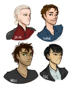 the main boys from the lunar chronicles by marissa meyer // drawing by limevines.tumblr.com
