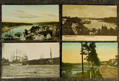 Antique Early 1900s Bridgewater Nova Scotia Postcard LOT X 4 | eBay