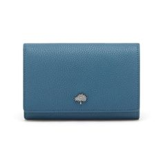 Mulberry Purse - TREE FRENCH PURSE STEEL BLUE SMALL CLASSIC GRAIN