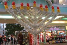 Hanukkah Menorah Balloon Sculpture