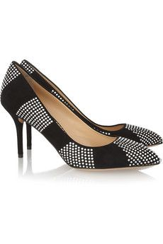 Charlotte Olympia                                  Desirée In Stripes suede pumps