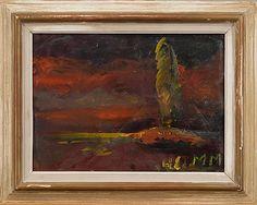Mauno Markkula: Iltarusko, öljy pahvilevylle, 26,5x37 cm - Bukowskis Market 2015 Bukowski, Finland, Painting, Design, Art, Art Background, Painting Art, Kunst