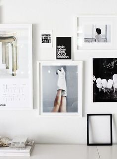 beautiful minimalistic frames of artwork & quotes.