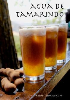 Agua de Tamarindo, A Refreshing Summer Beverage – Fresh Bites Daily Fruit Drinks, Smoothie Drinks, Healthy Drinks, Alcoholic Drinks, Beverages, Cocktails, Smoothies, Healthy Recipes, Puerto Rican Cuisine