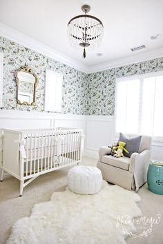 Baby Nursery ~ House of Turquoise: Shea McGee Design Nursery Room, Girl Nursery, Girl Room, Baby Room, Nursery Decor, Nursery Ideas, Chic Nursery, Wall Decor, Kids Bedroom