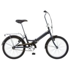 Unisex Schwinn Hinge 1-Speed 20-in. Folding Bike, Grey