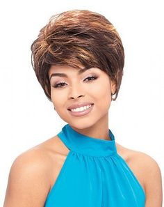 VEGA human hair wig by Janet Collection-4(medium brown) by Janet Collection. $27.54. Janet Collection VEGA human hair wig. 100% Human hair short wig. Manufactured by Janet Collection. Once size fits all-for sizing