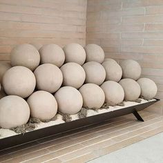 Concrete & Ceramic Fire Balls - The Modern Alternative You Need for Your Gas Fireplace — The Savvy Heart Propane Fireplace, Home Fireplace, Fireplace Remodel, Fireplace Design, Concrete Fireplace, Bedroom Fireplace, Fireplace Ideas, Modern Gas Fireplace Inserts, Modern Fireplace Decor