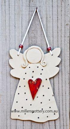 Australian handmade ceramic angel by www.millerspottery.com