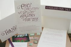 The Sword's fairy tale themed invitation suite