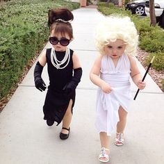 Mini Audrey and Mini Marilyn
