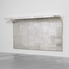 Paul Evans, Chrome-Plated Steel Cityscape Headboard for Directional, c1975.