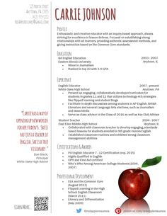 Resume Template For Teachers Teacher's Resume Design Template Docx  White And Grey  Cover