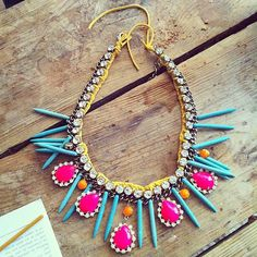 neon necklace... adore.