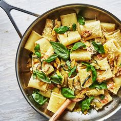 Summer Squash and Basil Pasta (make with zucchini noodles or gf pasta?)
