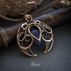 Bronze handmade #pendant. Wirework.