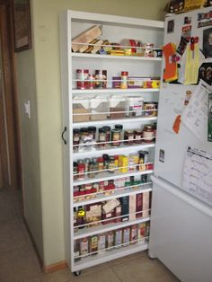 diy drawer kitchen pantry! This just might work in my kitchen.