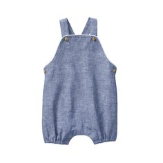 0566f7785a1e Newborn Chambray Blue Chambray Overall by Janie and Jack