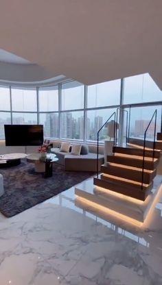 Home Stairs Design, Duplex House Design, Home Building Design, Home Room Design, Dream Home Design, Modern House Design, Contemporary Home Design, Best Home Design, Modern Stairs Design