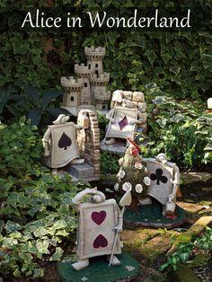 Alice in wonderland Disney Garden ornament statue Cheshire cat 4945119077467